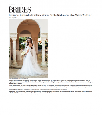BRIDES.COM: Something Navy's Arielle Nachmani's Chic Miami Wedding