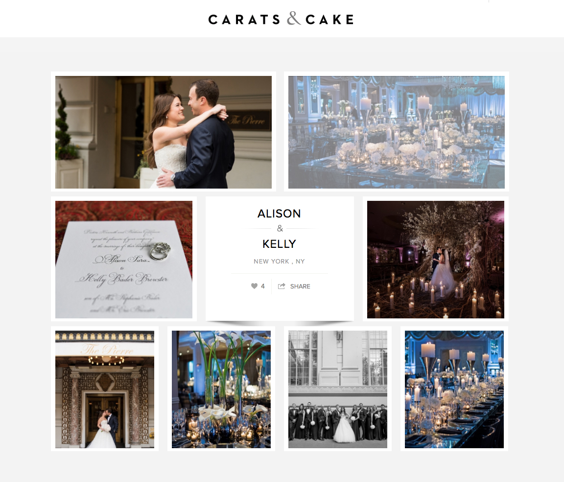 Carats & Cake:  Alison & Kelly – The Pierre Hotel